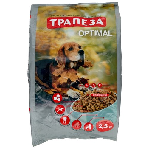 Корм для собак Трапеза (2.5 кг) 1 шт. Оптималь для взрослых собак, склонных к полноте авен гидранс оптималь риш