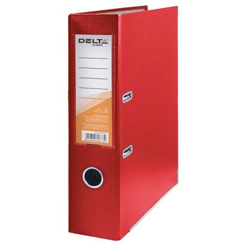Купить Delta by Axent Папка-регистратор A4 с односторонним покрытием, 7, 5cм красный, Файлы и папки