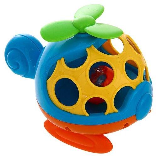 Погремушка Крошка Я Вертолет 3601748 синий/оранжевый погремушка крошка я песочные часы 3650063 желтый оранжевый