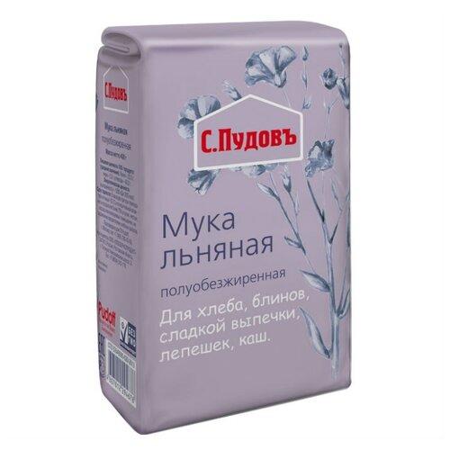 Мука С.Пудовъ льняная полуобезжиренная, 0.4 кгМука из других злаков<br>