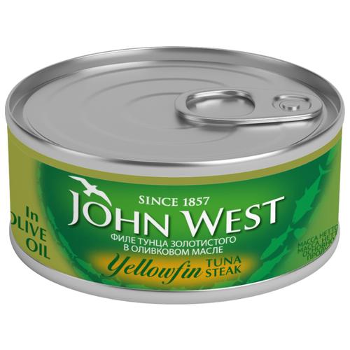 John West Филе тунца золотистого в оливковом масле, 160 гКонсервы из рыбы и морепродуктов<br>