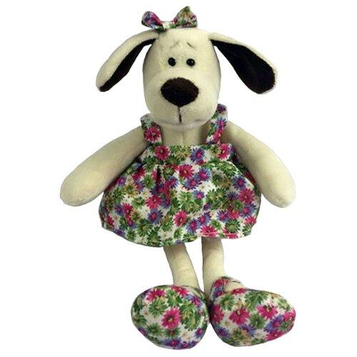 Мягкая игрушка ABtoys Собака в платье с цветами 16 см