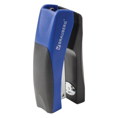 Купить BRAUBERG Степлер Getze, для скоб №24/6 синий/черный, Степлеры, скобы, антистеплеры