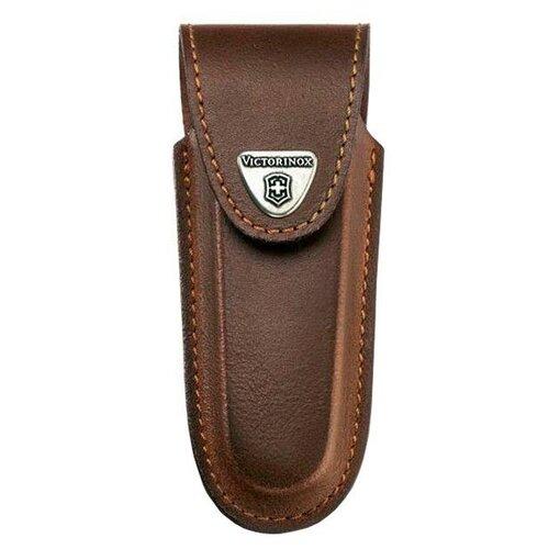 Чехол для ножей 111 мм 5-8 уровней VICTORINOX коричневый чехол victorinox для ножей 91 мм 5 8 уровней с отд для фонаря и точильного камня кожаный чёрный
