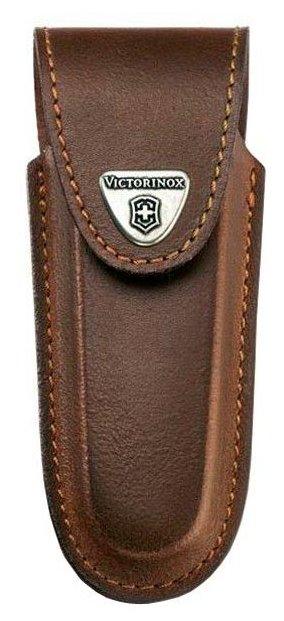 Чехол для складных ножей Victorinox 4.0538, рукоять 111 мм 5-8 уровней, натуральная кожа, цвет коричневый, крепление на пояс, Victorinox (Викторинокс)