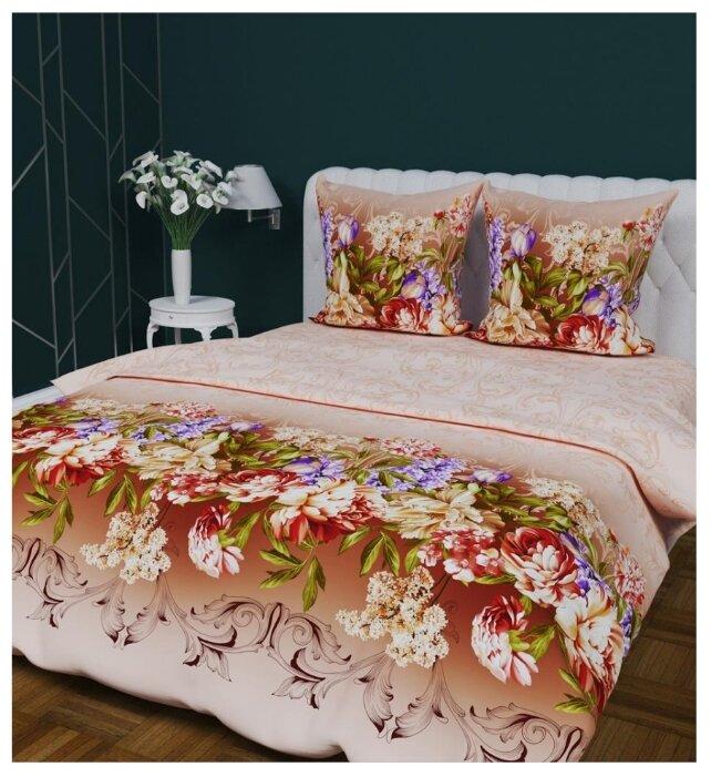 Постельное белье 2-спальное Текстильная лавка Живописные цветы 70 x 70 бязь