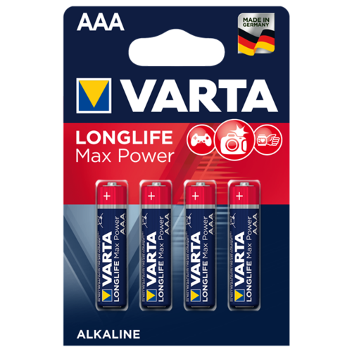 Фото - Батарейка VARTA LONGLIFE Max Power AAA 4 шт блистер батарейка varta longlife c блистер 2шт