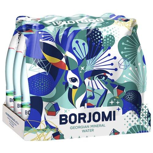 Минеральная вода Borjomi газированная, стекло, 12 шт. по 0.33 л