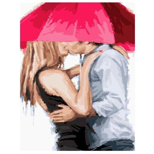 Купить Paintboy Картина по номерам Под алым зонтом 40х50 см (GX23591), Картины по номерам и контурам