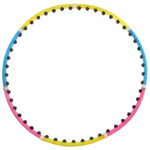 Массажный обруч Z-sports 46 BD 90 см желтый/розовый/голубой обруч массажный разборный z sports диаметр 100 см