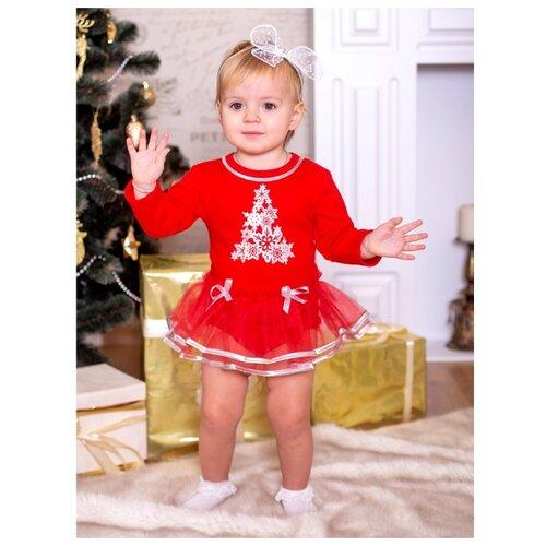 Платье-боди Дашенька размер 80, красный