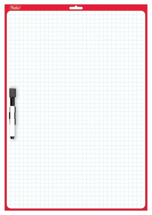 Доска для рисования Hatber двухсторонняя с маркером (SMn_03010)