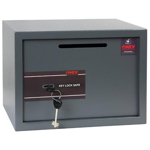 Сейф депозитный ONIX LS-25KD, серый