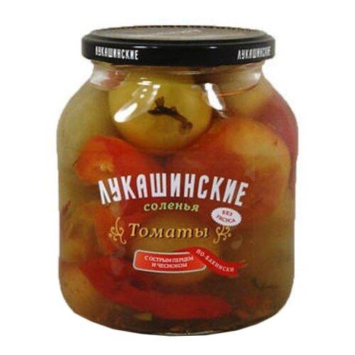Томаты с острым перцем и чесноком по-бакински ЛУКАШИНСКИЕ стеклянная банка 670 гОвощи консервированные<br>