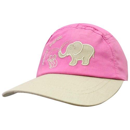 Купить Бейсболка Be Snazzy размер 48, темно-розовый/бежевый, Головные уборы