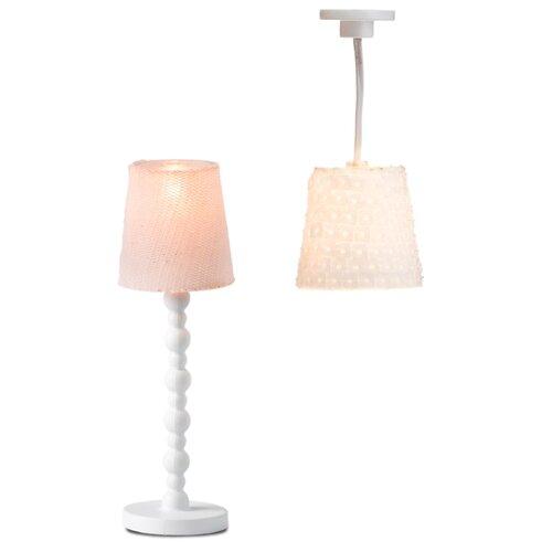 Купить Lundby Торшер и люстра с абажуром Смоланд (LB_60604000) белый, Мебель для кукол