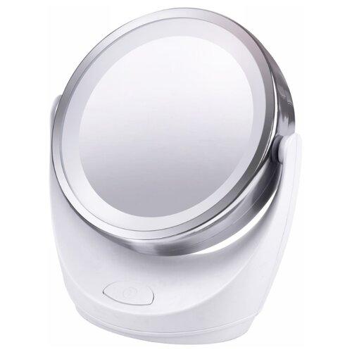 Зеркало косметическое настольное MARTA MT-2646 с подсветкой белый жемчуг