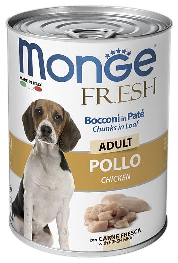 Корм для собак Monge Fresh – Мясной рулет из курицы для взрослых собак
