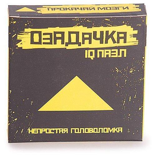 Купить Головоломка Озадачка IQ пазл тип Треугольник (12627) оранжевый, Головоломки