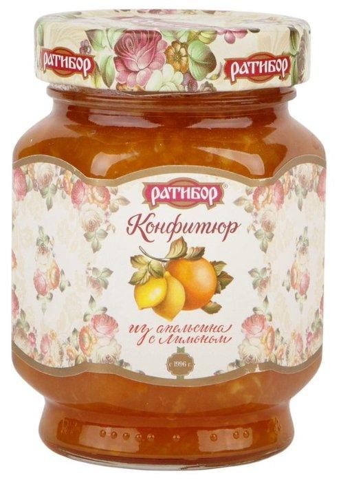 Конфитюр Ратибор из апельсина с лимоном, банка 350 г