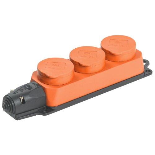 Колодка IEK Омега РБ33-1-0м 16 А оранжевый