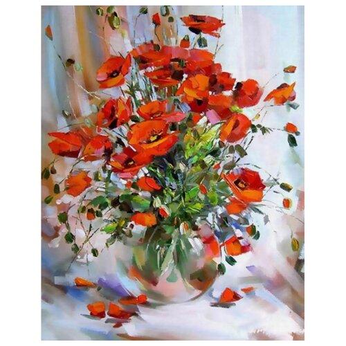 Купить Белоснежка Картина по номерам Букет маков 30х40 см (3085-CS), Картины по номерам и контурам