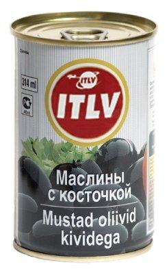 ITLV Маслины с косточкой, жестяная банка 314 мл