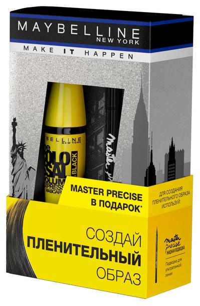 Maybelline Подарочный набор: тушь для ресниц The colossal volum' express, лайнер для глаз Hyper precise