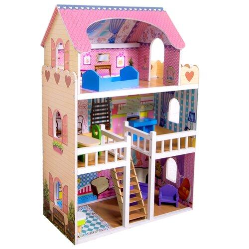 SunnyWoods кукольный домик Варя, голубой/розовый/бежевый, Кукольные домики  - купить со скидкой