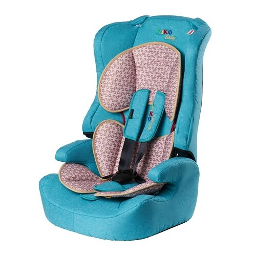 Купить Автокресло группа 1/2/3 (9-36 кг) Liko Baby LB-513, волна/лен, Автокресла