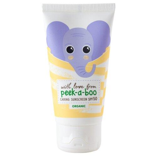 Фото - Peek-a-boo органический детский солнцезащитный крем SPF50 50 мл виши капиталь солей спрей детский солнцезащитный spf50 плюс 200 мл