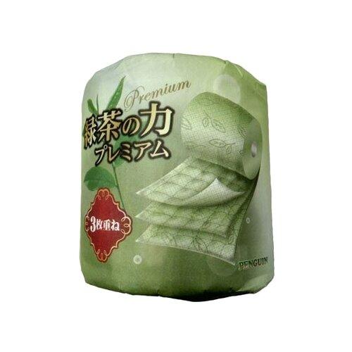 Туалетная бумага Marutomi Penguin Premium трехслойная с ароматом зеленого чая, 1 рул.Туалетная бумага и полотенца<br>