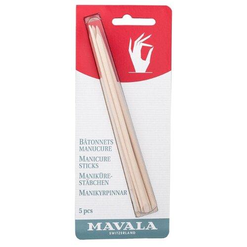 Купить Mavala Палочки для маникюра деревянные Manicure Sticks, 5 шт. бежевый