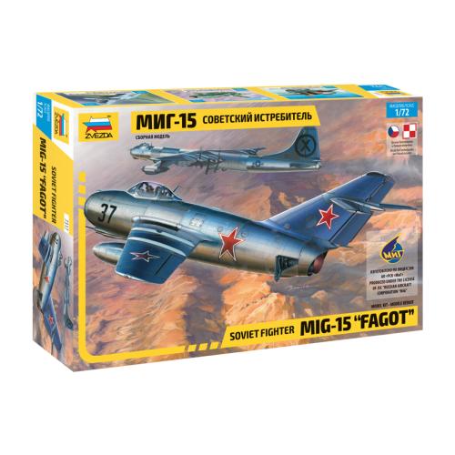 Купить Сборная модель ZVEZDA Советский истребитель МиГ-15 (7317) 1:72, Сборные модели