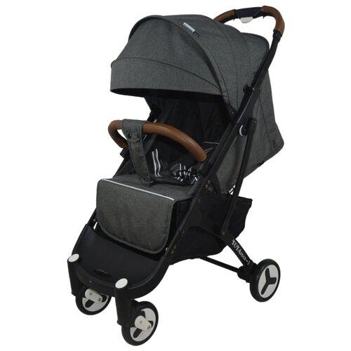 Прогулочная коляска Yoya Plus 3 (дожд., москит., подстак., бампер, сумка-чехол, бамбук. коврик, корзина д/пок, ремешок на руку, накидка на ножки) dark grey/black frame, цвет шасси: черный