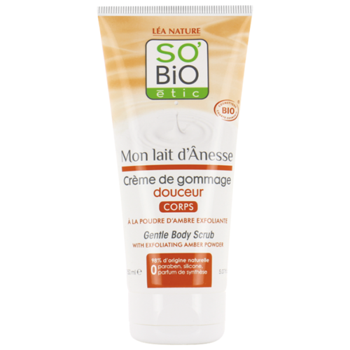 Купить SO'BiO etic Крем-гоммаж для тела с ослиным молоком, 150 мл