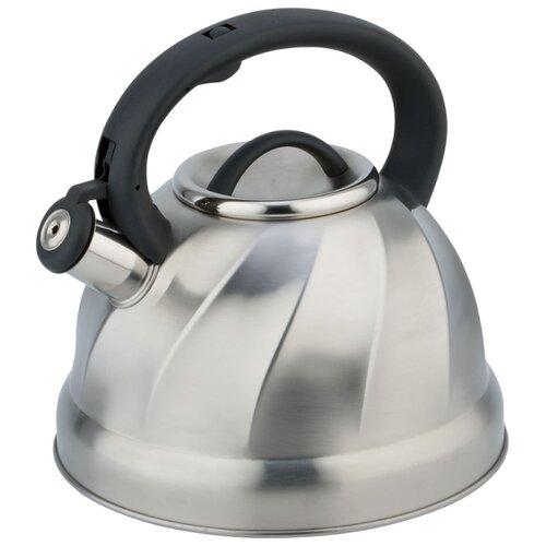 Rainstahl Чайник со свистком 7618-35RS\WK 3,5 л стальной/черный