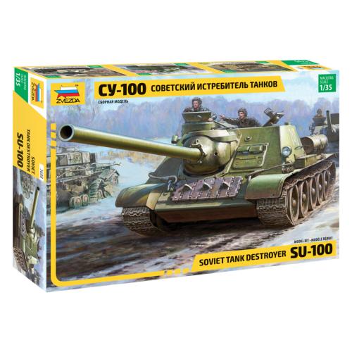 Сборная модель ZVEZDA Советский истребитель танков СУ-100 (3688) 1:35 сборная модель zvezda бригантина 9011 1 100