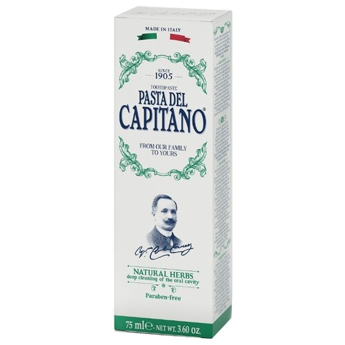 Зубная паста Pasta del Capitano 1905 Натуральные травы 75 млЗубная паста<br>