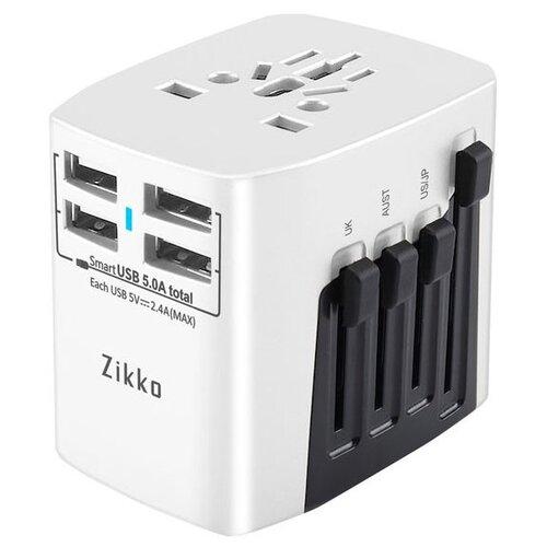 Сетевая зарядка Zikko Worldwide Travel Adaptor BST631 белыйЗарядные устройства и адаптеры<br>