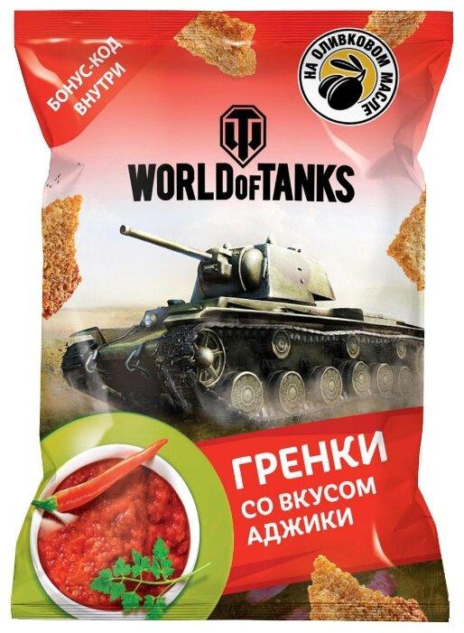 United Food Group гренки World of Tanks пшенично-ржаные со вкусом аджики, 90 г