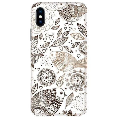 Чехол Mitya Veselkov IP10.MITYA-020 для Apple iPhone X цветы и птички