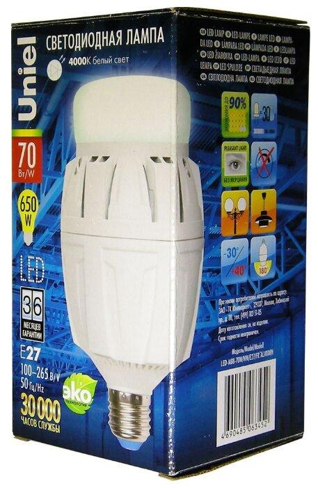 Светодиодная лампа LED-M88 NW FR ALV01WH 70Вт, E27,матовая, Uniel (08980)