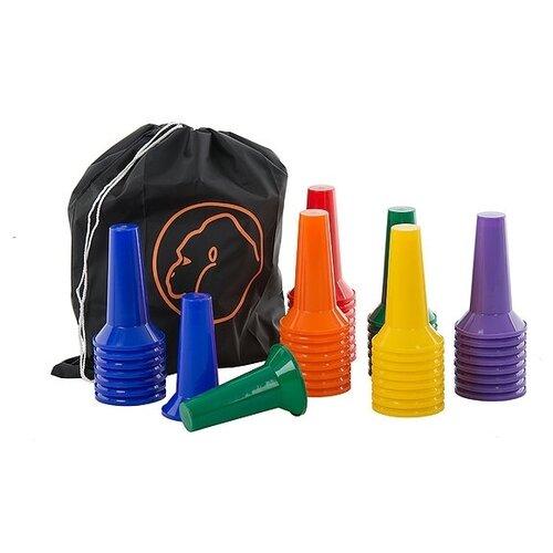 Конус (комплект, 48 шт.) Gorilla Training 70451 синий/оранжевый