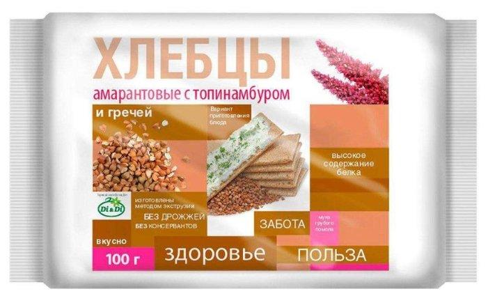 Хлебцы амарантовые DI&DI с топинамбуром и гречей, 100г.