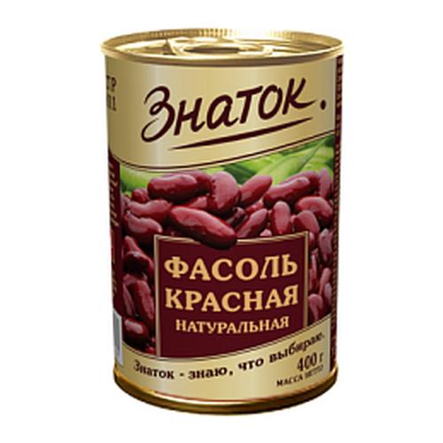 Фасоль Знаток красная, жестяная банка 400 г компот похудин банка 400 г
