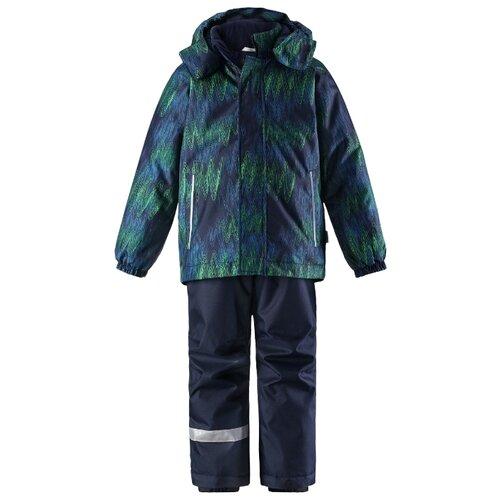 Комплект с брюками Lassie размер 92, 6963 зеленый/темно-синий