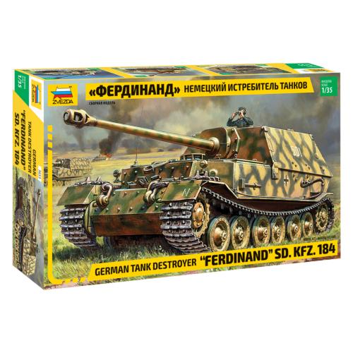 Сборная модель ZVEZDA Немецкий истребитель танков Фердинанд (3653) 1:35