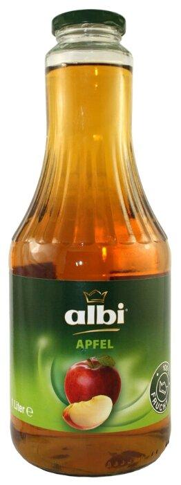 Сок albi яблоко, в стеклянной бутылке