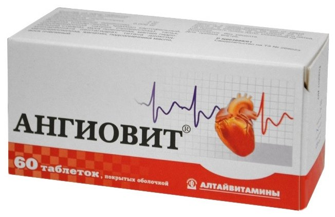 Ангиовит таб. п.о №60 — купить по выгодной цене на Яндекс.Маркете